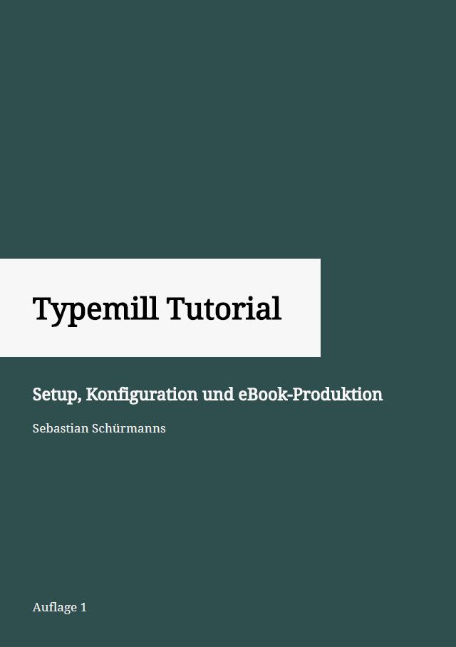Cover eBook Typemill Tutorial